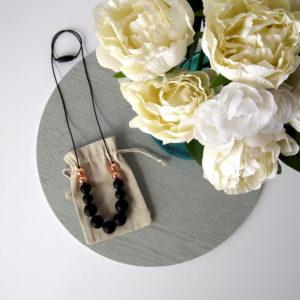 Bangalow Silicone Necklace - Black & Rose Gold