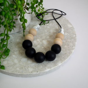 Byron Silicone and Wood Necklace