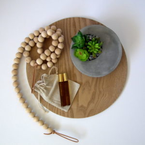 Wood and Leather Garland