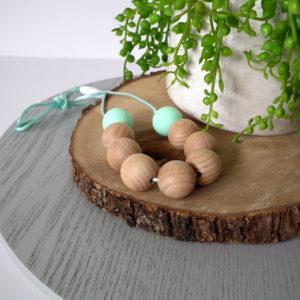 Belongil Beech Wood & Silicone Necklace