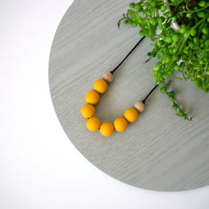 Shelley Beech Wood & Silicone Necklace