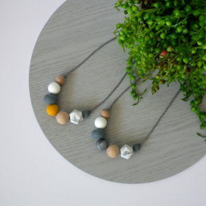 Trestles Beech Wood & Silicone Necklace