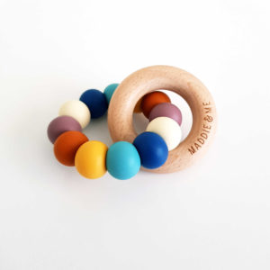 Bay Teether - Retro Rainbow