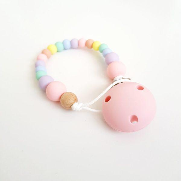 Pastel Rainbow Dummy Clip