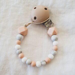 Hex Marble Mix Dummy Chain - Peach