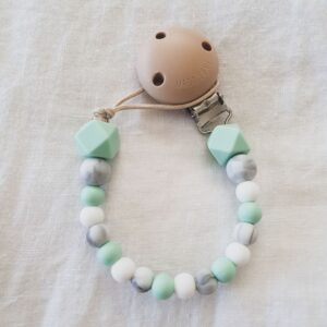 Hex Marble Mix Dummy Chain - Mint