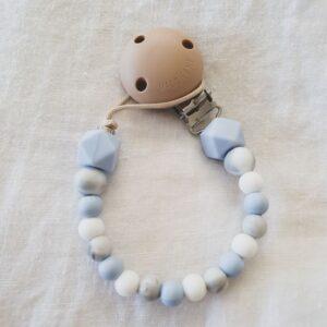 Hex Marble Mix Dummy Chain - Pastel Blue