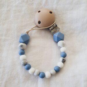 Hex Marble Mix Dummy Chain - Powder Blue