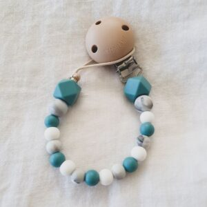 Hex Marble Mix Dummy Chain - Teal
