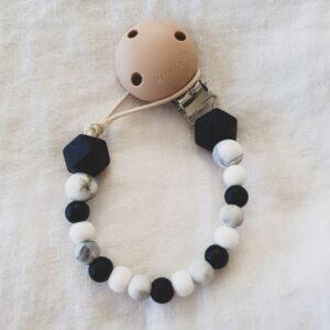 Hex Marble Mix Dummy Chain - Black