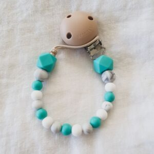 Hex Marble Mix Dummy Chain - Turquoise