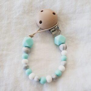 Hex Marble Mix Dummy Chain - Aqua
