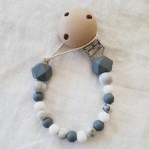 Hex Marble Mix Dummy Chain - Dark Grey