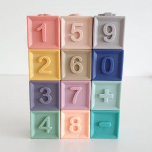Soft Interlocking Silicone Blocks - Numbers