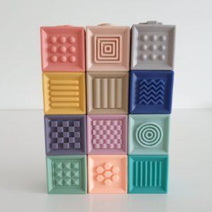 Soft Interlocking Silicone Blocks - Texture