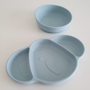 Silicone Suction Plate and Bowl - Ether