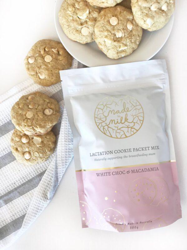 Made To Milk - White Choc and Macadamia Nut Packet Mix