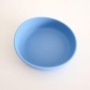Powder Blue Silicone Suction Bowl