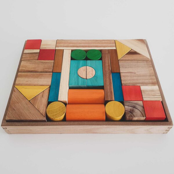 Colour Wooden Blocks - Qtoys