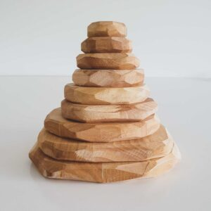 Natural Wooden Stacking Stones