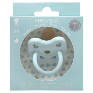 Hevea - Colour Pacifier - Round - Baby Blue - Size 0 to 3 months