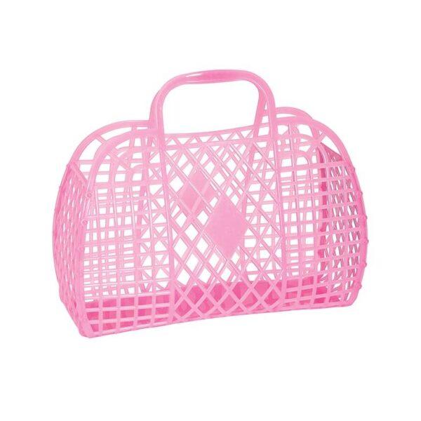 Sun Jellies Basket Small - Neon Pink