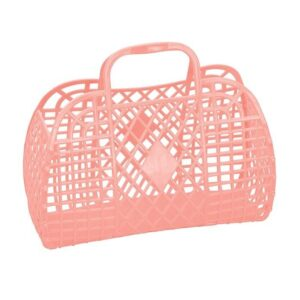 Sun Jellies Basket Small - Coral