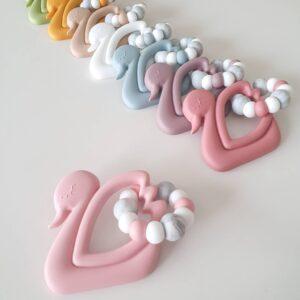 Luxe Swan Teething Toy
