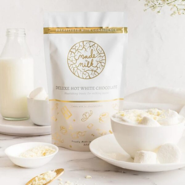Deluxe Hot White Chocolate - Made To Milk Lactation Drink