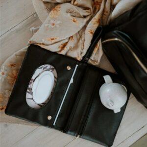 Milky & Poppy Andi Black Nappy Wallet