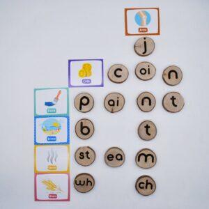 Qtoys - Wooden Phonogram Learning Kit