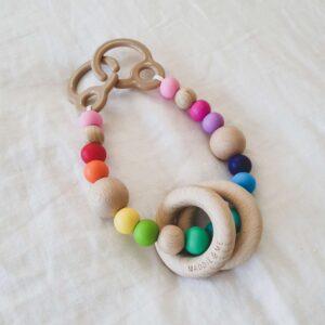 Pre-made Pebble Pram Garland - Rainbow