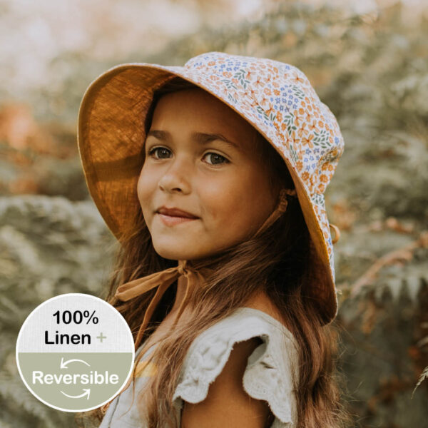Bedhead Girls Reversible Sun Hat - Mabel / Maize