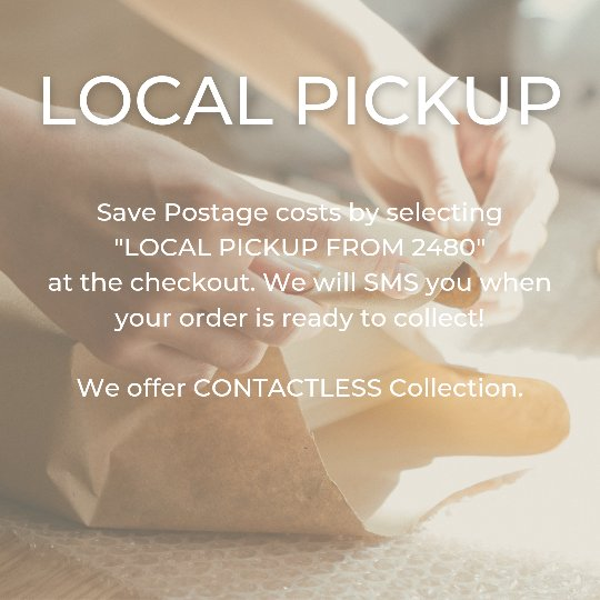 LOCAL CONTACTLESS PICKUP AVAILABLE FROM GOONELLABAH 2480