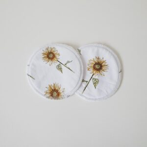 Biggy & Lou Bamboo Breast Pads - Sunflowers