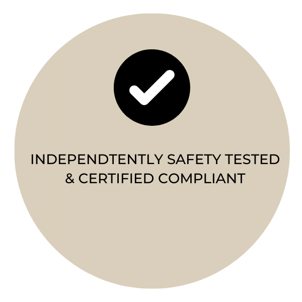 Independently Safety Tested and Certified